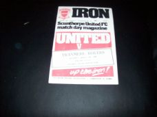 Scunthorpe United v Tranmere Rovers, 1979/80
